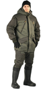 Костюм зимний «ГРАСК» куртка/полукомб. цвет: св. хаки/т.хаки, ткань: Таслан