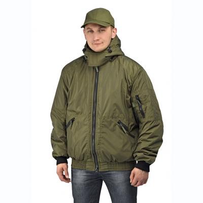 """Куртка мужская """"Бомбер"""" тк. Джордан хаки (с капюшоном)"""
