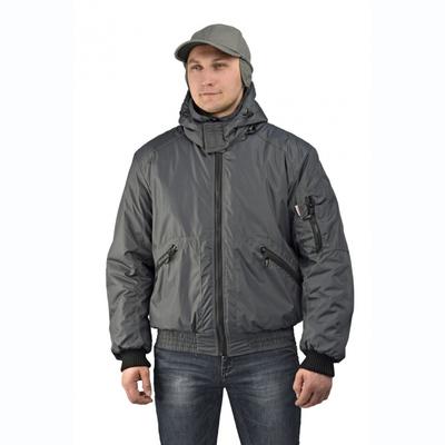 """Куртка мужская """"Бомбер"""" тк. Джордан серая (с капюшоном)"""